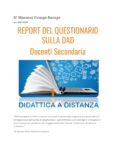 Report Docenti Secondaria DAD