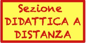 Cartello indicatore per la sezione Didattica a Distanza